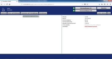 Startseite des CCU2 WebUI